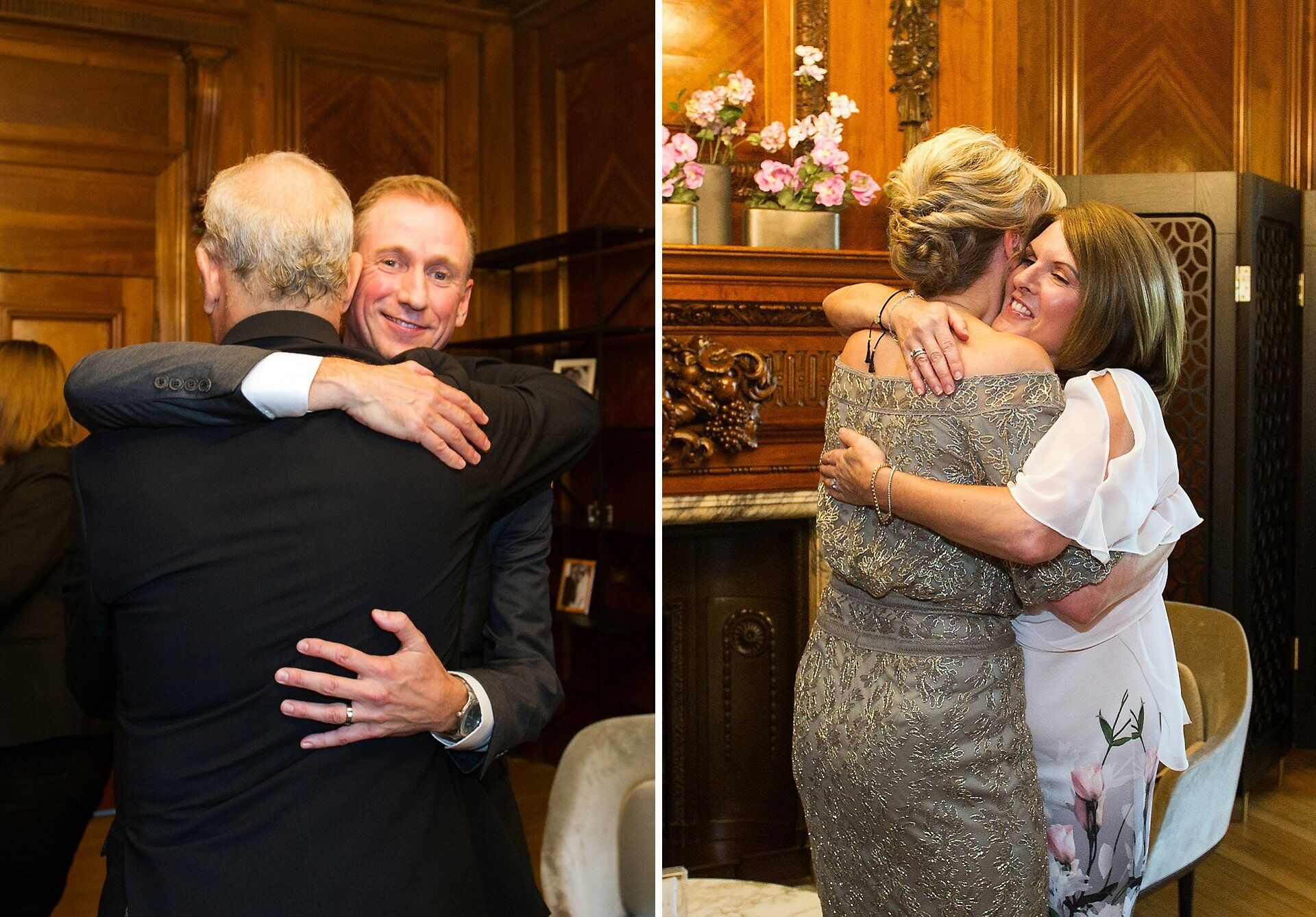 michael and brenda hug their best friends in the paddington room
