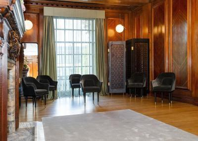 guests in the paddington room will be sat one metre apart in line with government guidelines on weddings