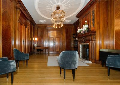 the paddington room now seats 6 guests on top of the couple and two registrars