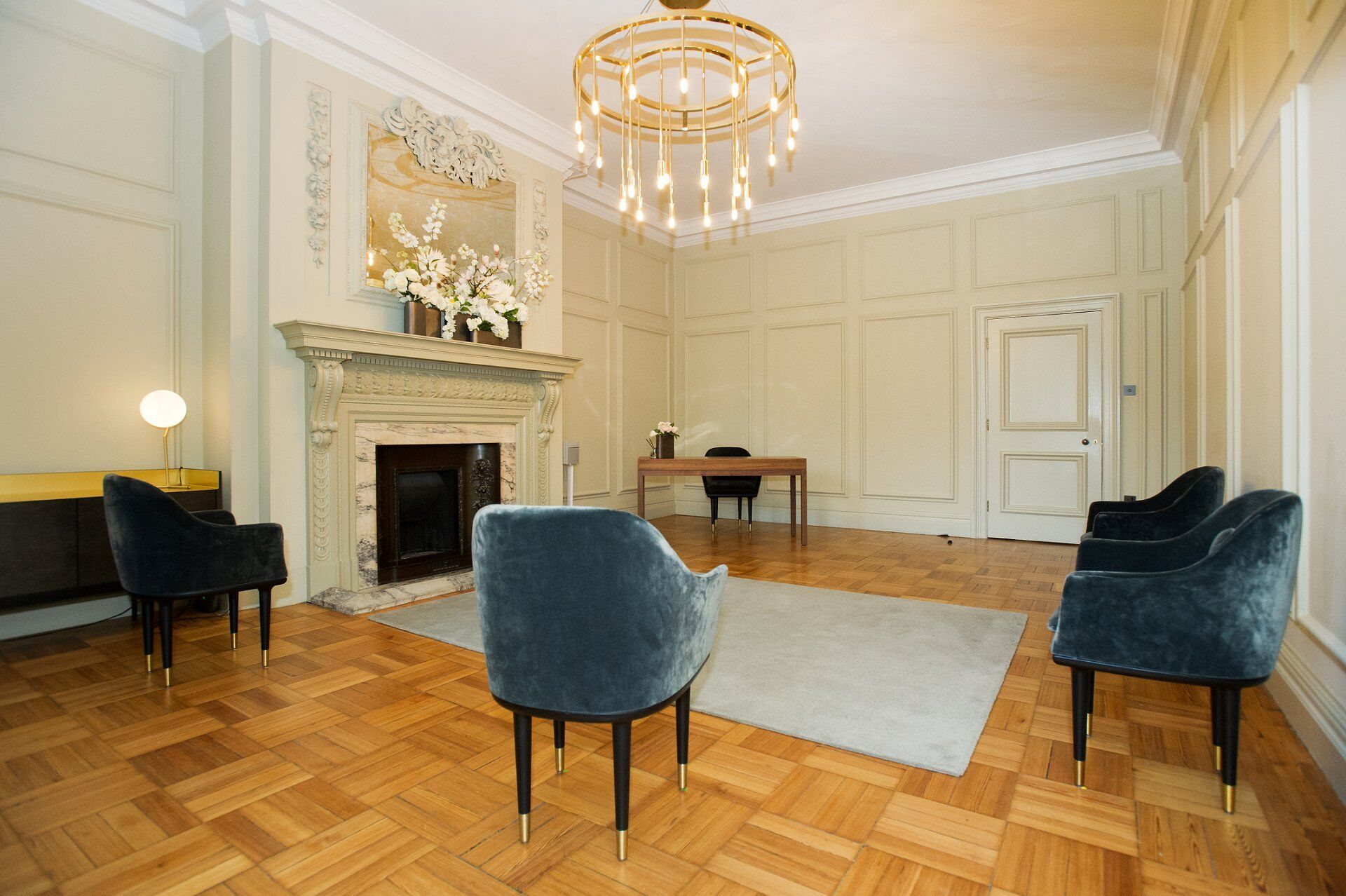 the pimlico room at old marylebone town hall has a lovely intimate feel