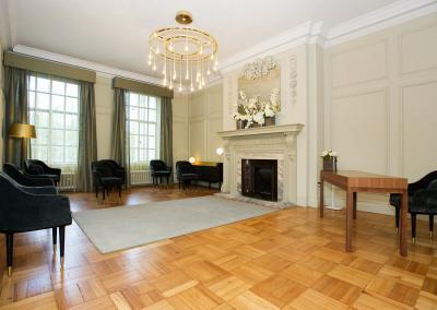 the view from the door shows the new pimlico room layout for 7 guests pimlico room old marylebone town hall